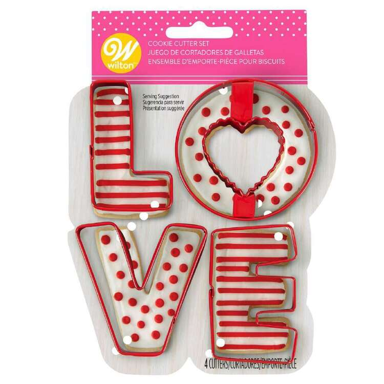 Wilton Love Metal Cookie Cutter Set