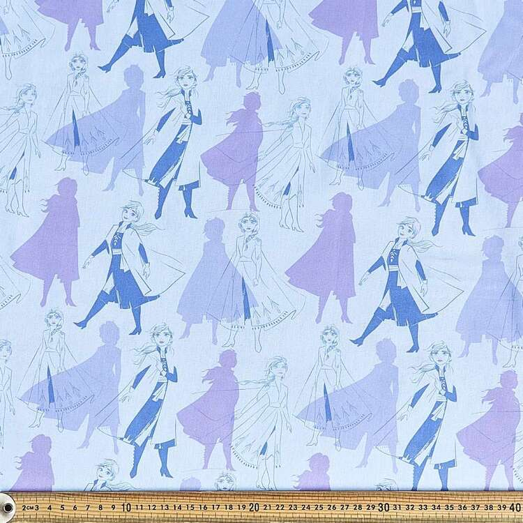 Frozen 2 Elsa & Anna Shadows Cotton Fabric