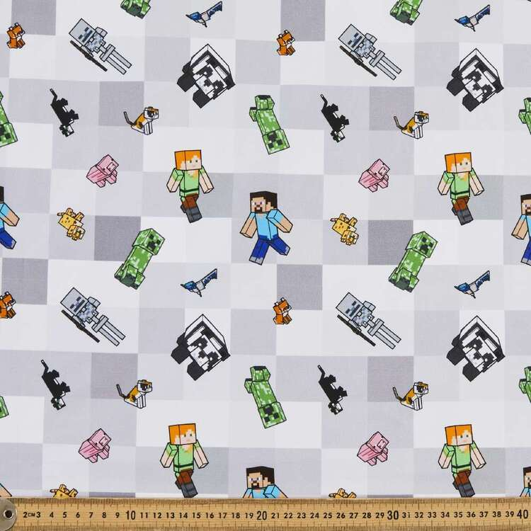 Minecraft Mobs Cotton Fabric