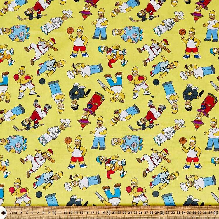 The Simpsons Ode To Homer Cotton Fabric
