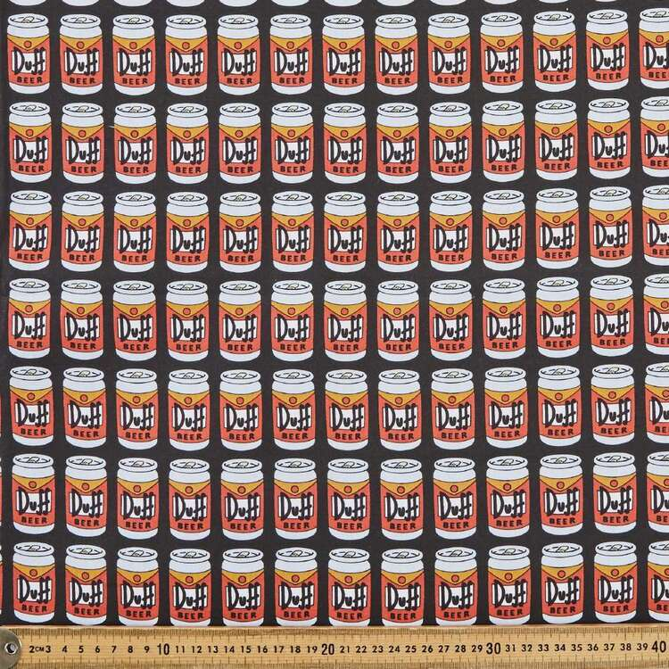 The Simpsons Duff Beer Cotton Fabric