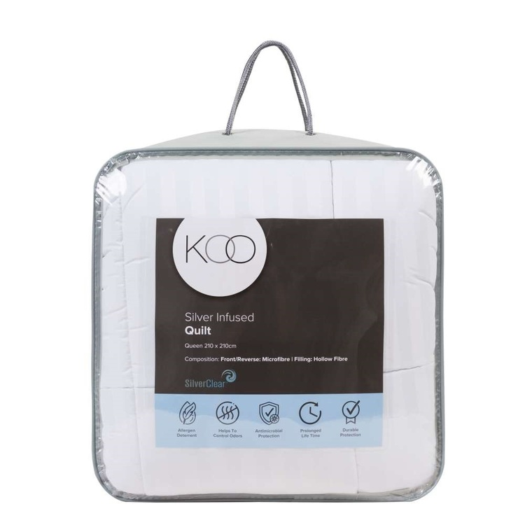 KOO Silver Infused Quilt White