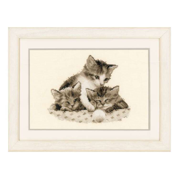 Vervaco 3 Little Kittens Counted Cross Stitch Kit