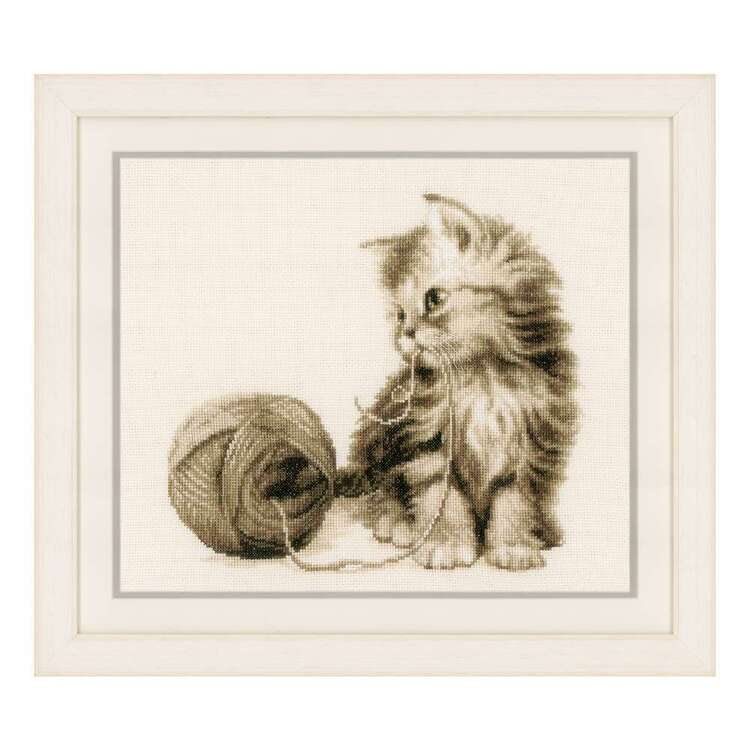 Vervaco Kitten Counted Cross Stitch Kit