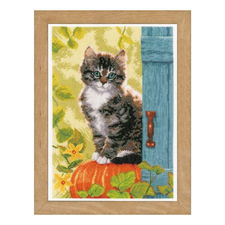 Vervaco Cat & Pumpkin Counted Cross Stitch Kit
