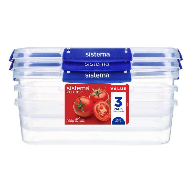 Sistema Klip It Plus 2.2 L 3 Pack Rectangle Container