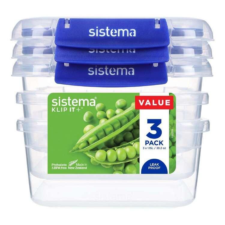 Sistema Klip It Plus 1.15 L 3 Pack Rectangle Container