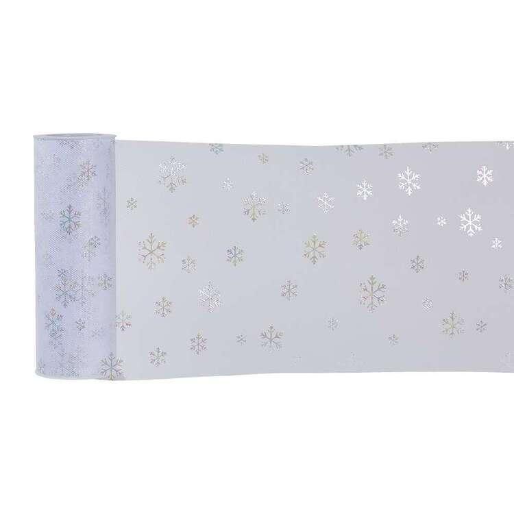 Snow Glitter Tulle Roll