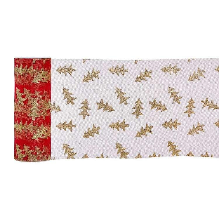 Glitter Tulle Christmas Tree Ribbon