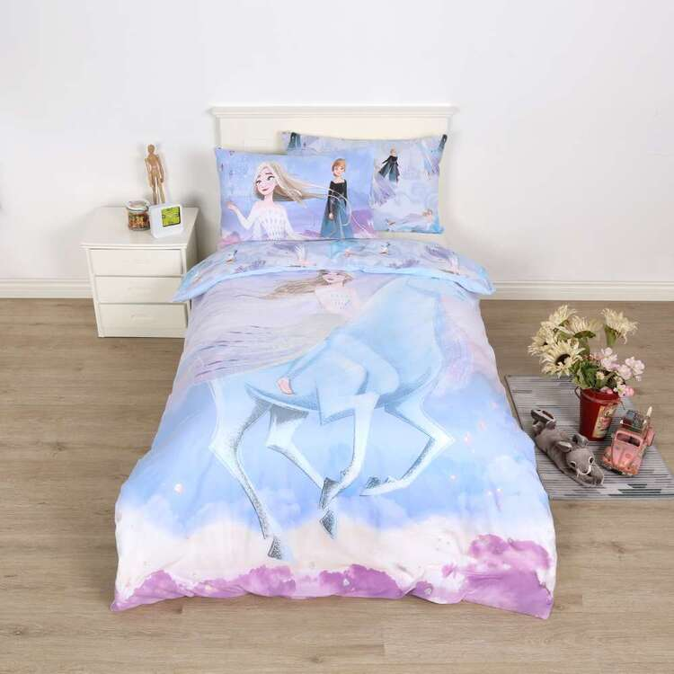 Frozen Sparkle Horse Quilt Cover Set