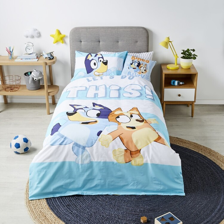 Bluey Lets Do This Quilt Cover Set