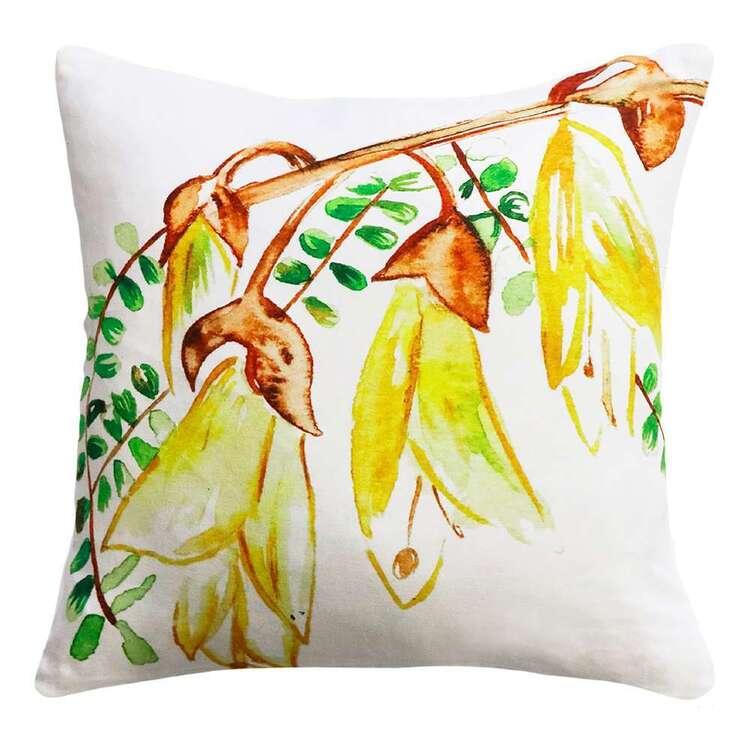 Limon Watercolour Kowhai Cushion