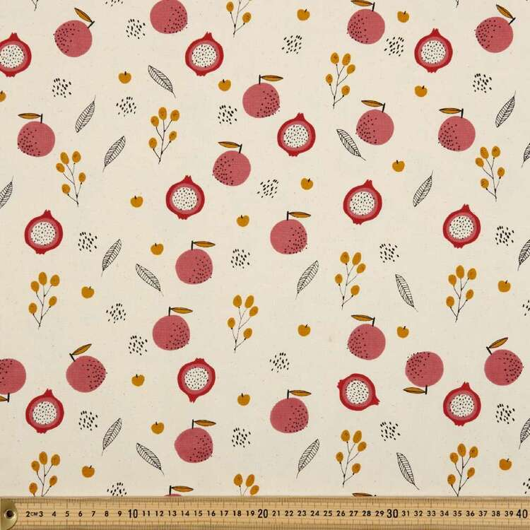 Pomegranate Printed 112 cm Buzoku Duck Fabric