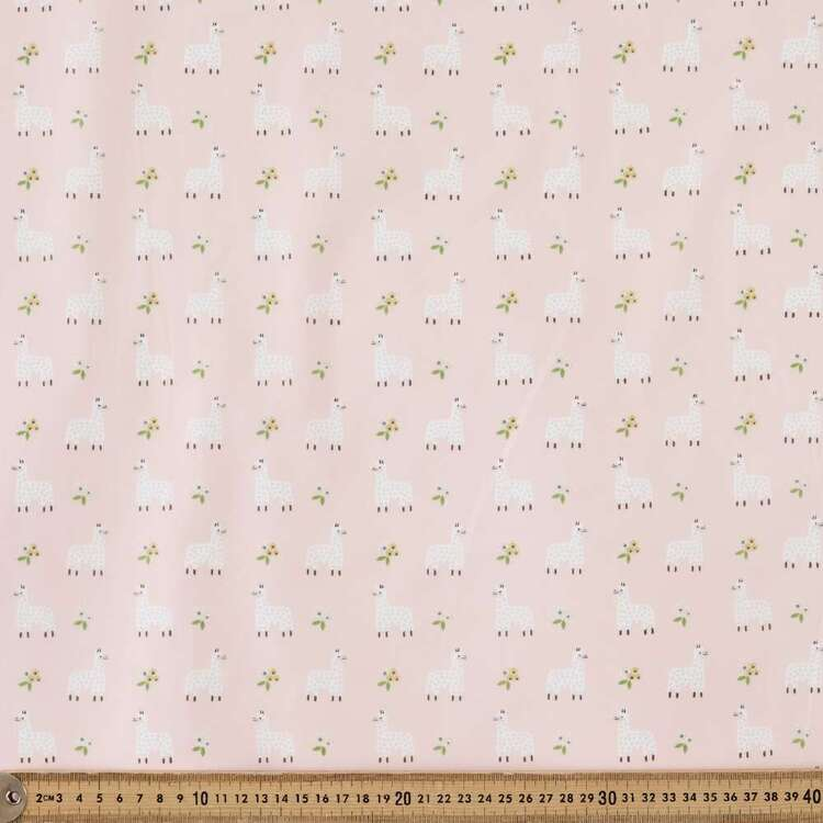Mix N Match TC Llama Printed 112 cm Poly Cotton Fabric