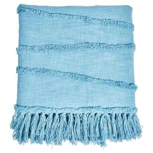 Ombre Home Weathered Coastal Throw With Tassels