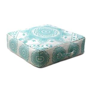 Ombre Home Weathered Coastal Mandala Floor Cushion