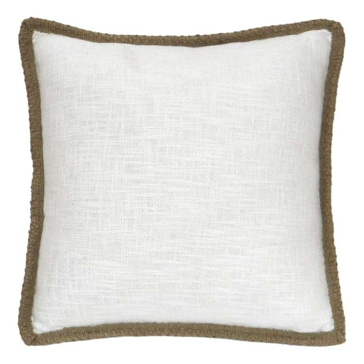 Ombre Home Weathered Coastal Slub Cushion With Jute Trims