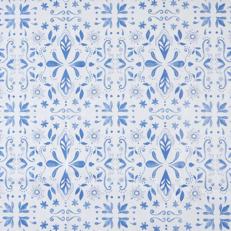Ladelle Blue Tile Printed Tabletone