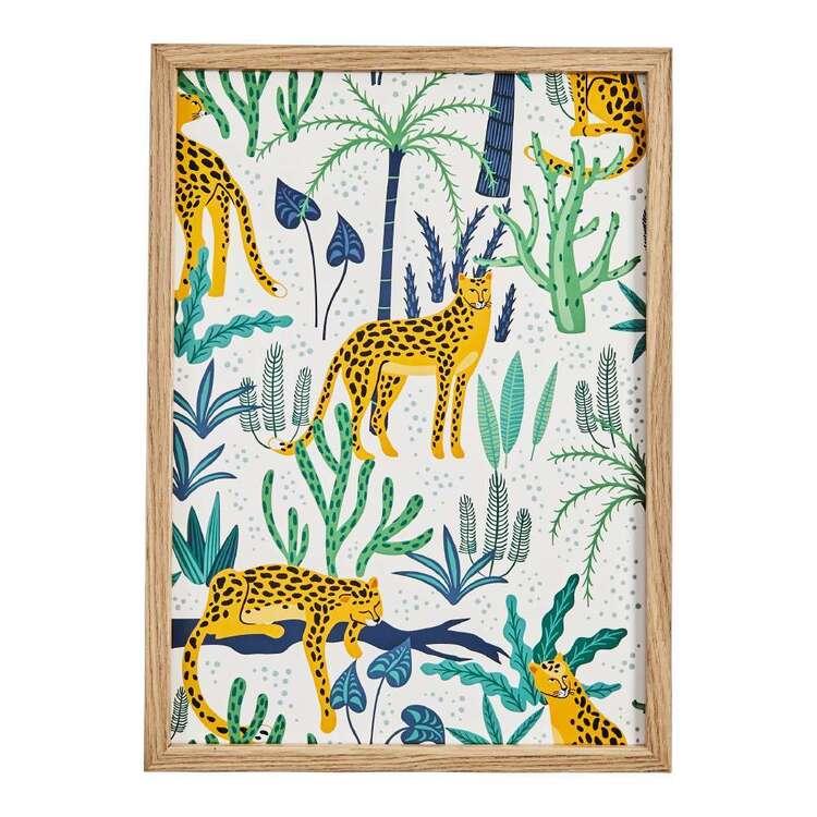 Cooper & Co Lazy Leopard Framed Print
