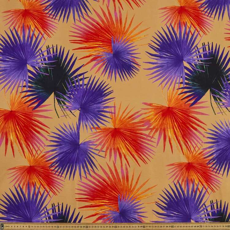 Palm Leaves Printed 148 cm Bengaline Suiting Fabric