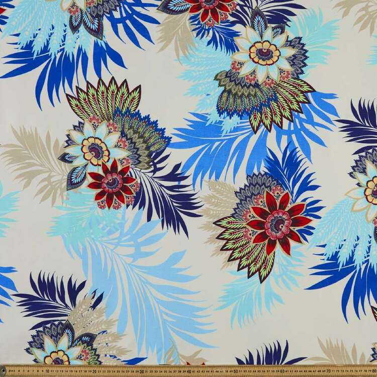 Bloom Printed 148 cm Bengaline Suiting Fabric
