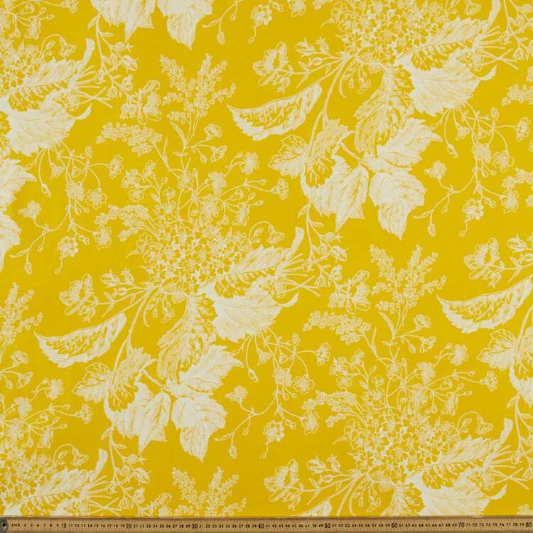 Stencil Flowers Printed 148 cm Bengaline Suiting Fabric