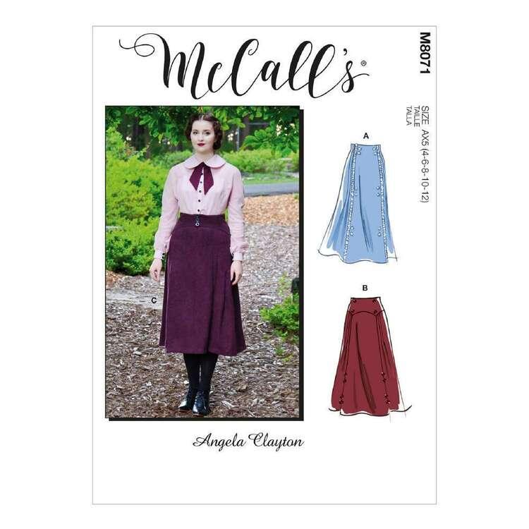 McCall's Pattern 8071 Misses' Historical Skirt