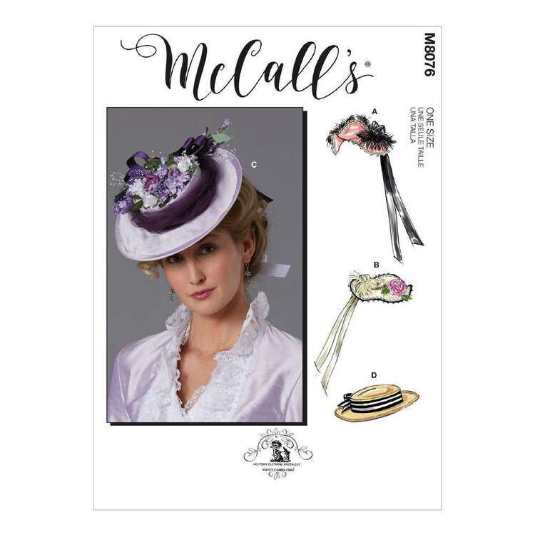 McCall's Pattern 8076 Misses' Historical Hats