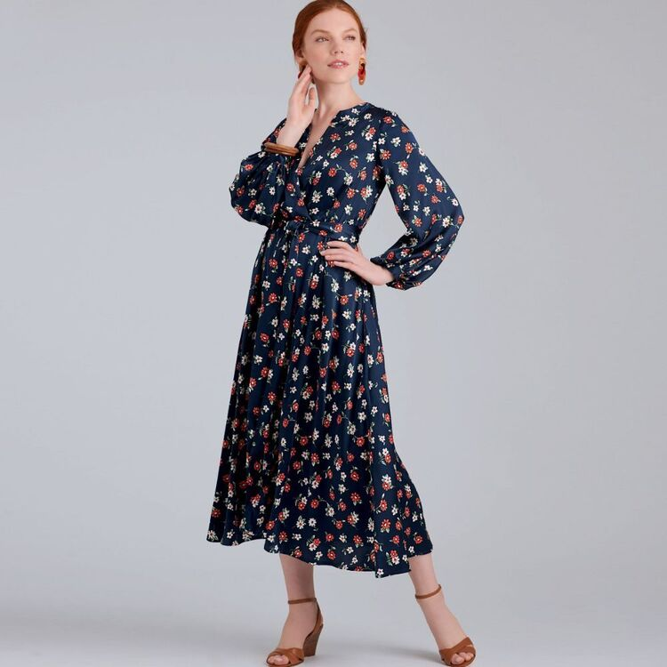 Simplicity Pattern 9041 Misses' Dresses In Three Lengths With Sleeve Variations
