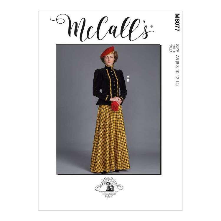 McCall's Pattern 8077 Misses' Historical Jacket & Skirt