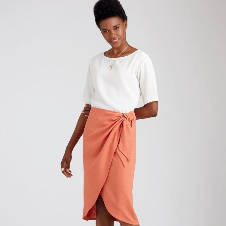Simplicity Pattern 9048 Misses' Sarong Skirt With Pleats/Gather