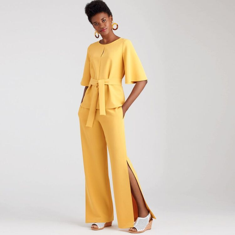 Simplicity Pattern 9051 Misses' Tops, Belt or Scarf & Pants