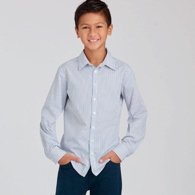 Simplicity Pattern 9056 Children's & Teen Boys' Shirts