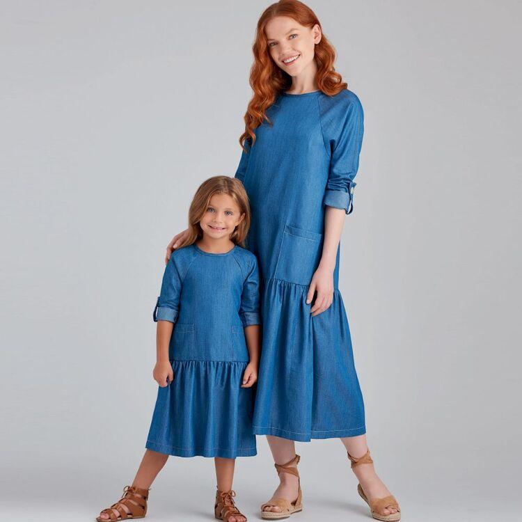 Simplicity Pattern 9057 Children's & Misses' Dresses