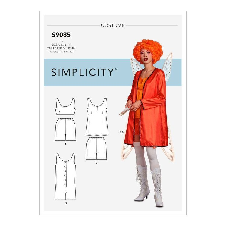Simplicity Sewing Pattern S9085 Misses' Robe, Top, Bottom & Romper/Playsuit