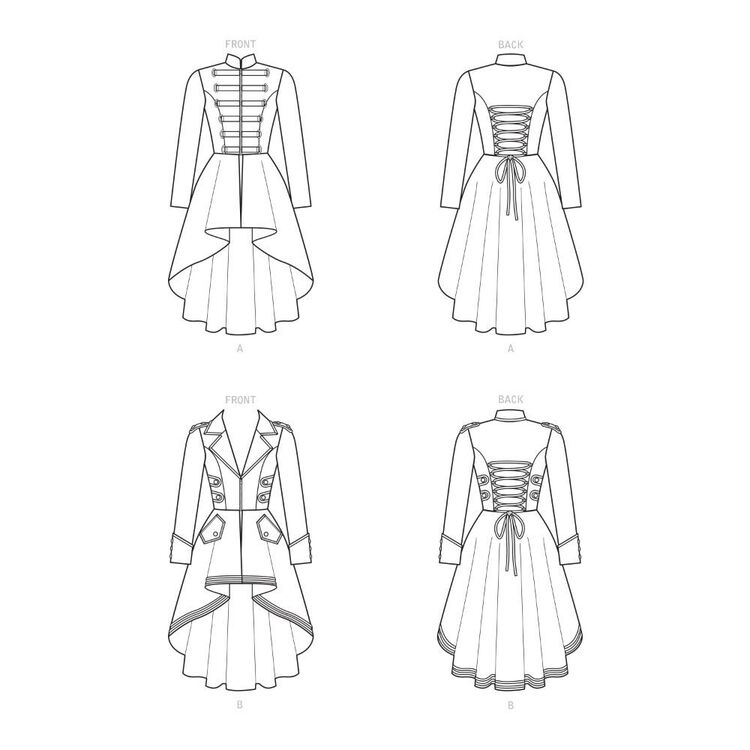 Simplicity Pattern 9086 Misses' Steampunk Costume Coats
