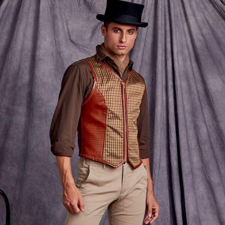 Simplicity Pattern 9087 Men's Steampunk Corset Vests