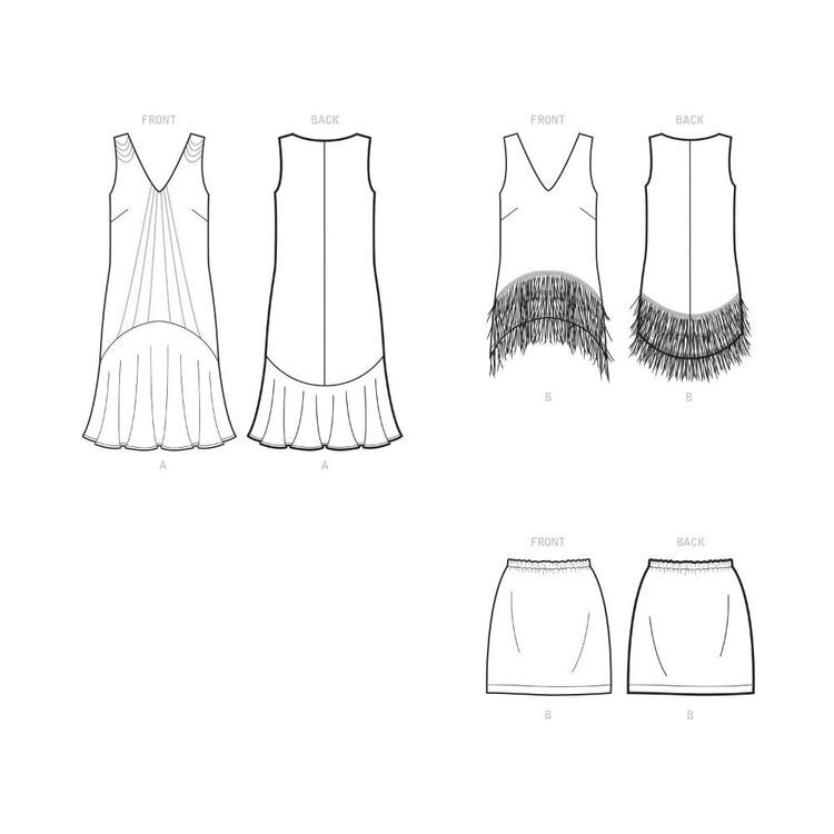 Simplicity Pattern 9088 Misses' Flapper Costumes
