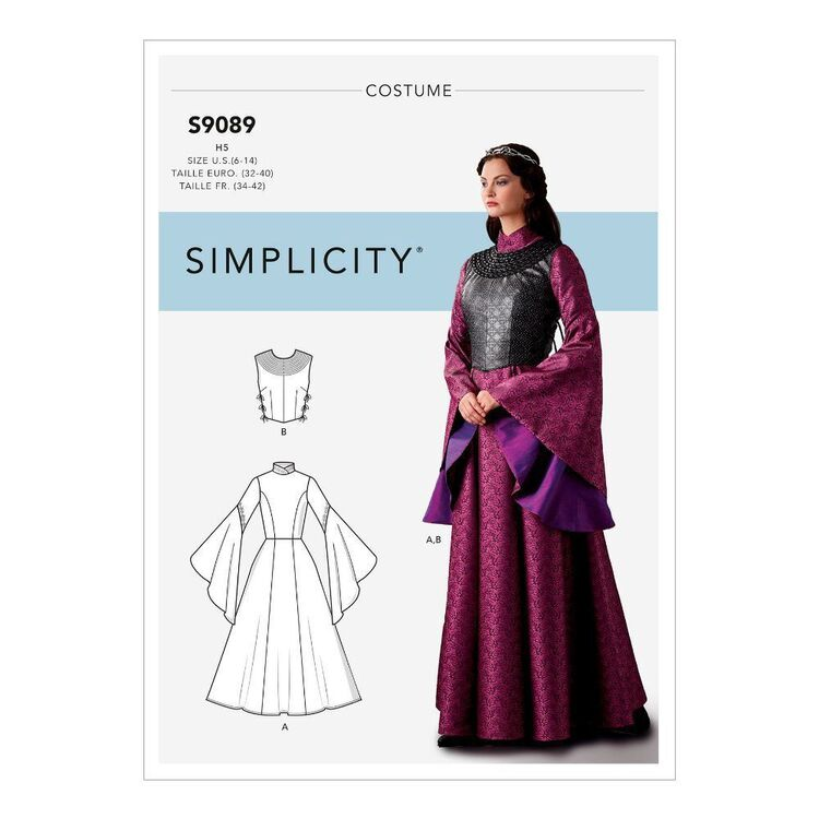 Simplicity Sewing Pattern S9089 Misses' Fantasy Costume