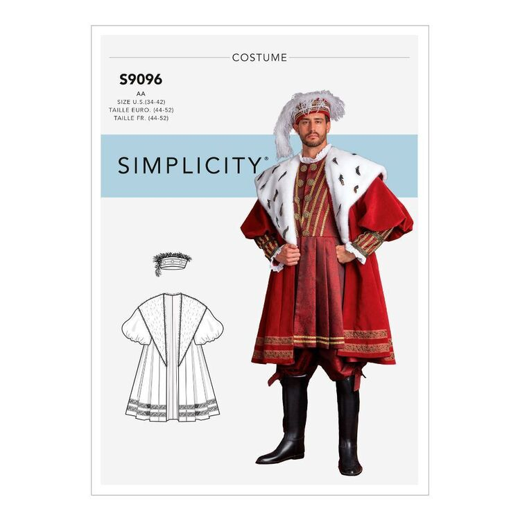 Simplicity Sewing Pattern S9096 Men's Historical Costume Coat & Hat