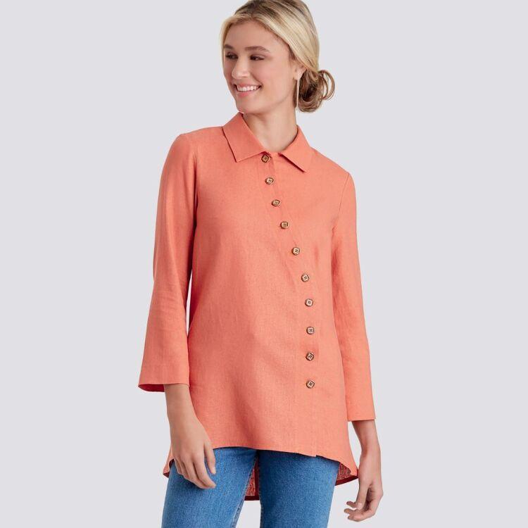Simplicity Pattern 9106 Misses' & Women's Button Front Shirt