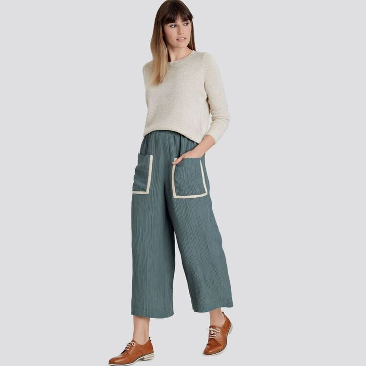 Simplicity Pattern 9110 Misses' Pull On Skirts & Cropped Pants