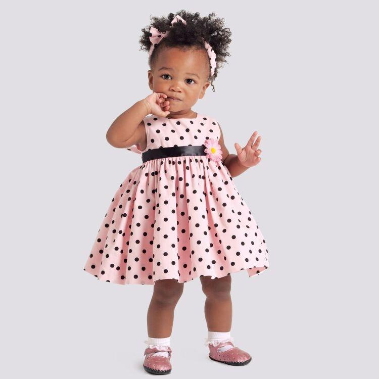 Simplicity Pattern 9117 Babies' Dresses, Panties & Headband