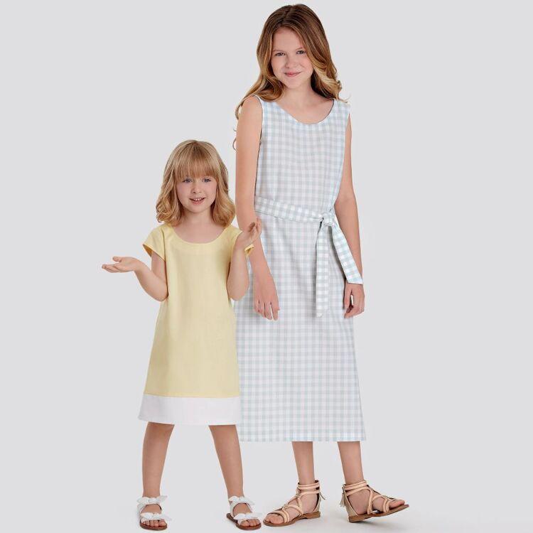 Simplicity Pattern 9120 Children's & Girls' Dresses