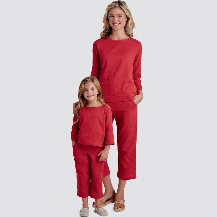 Simplicity Pattern 9121 Children's & Misses' Top & Pants
