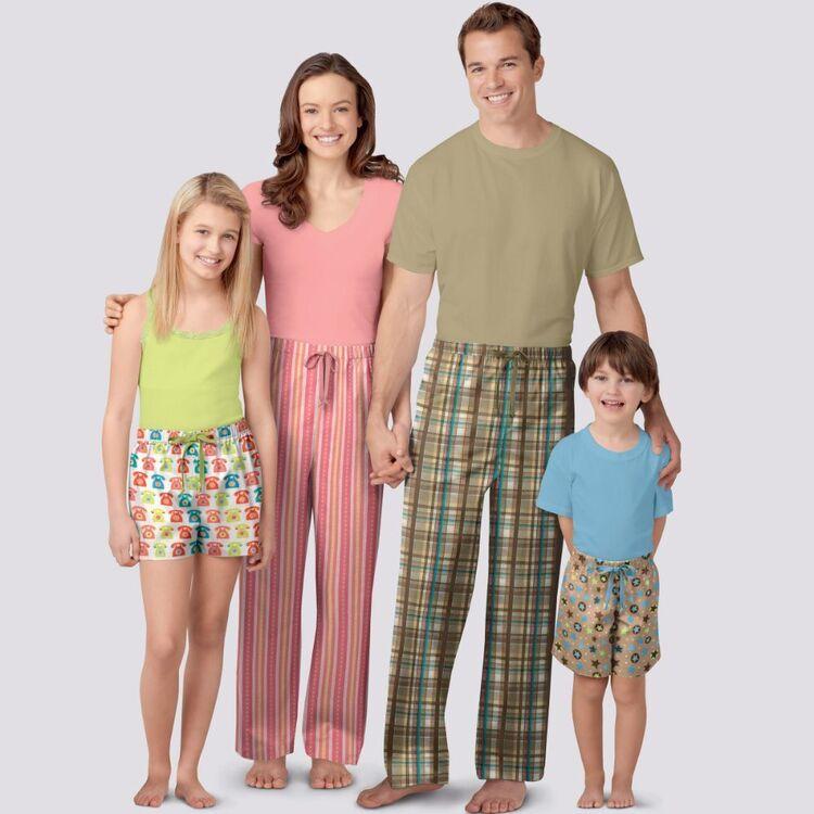 Simplicity Pattern 9127 Unisex Sleepwear