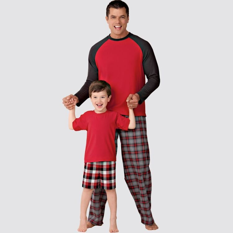 Simplicity Pattern 9128 Men's & Boys Sleepwear