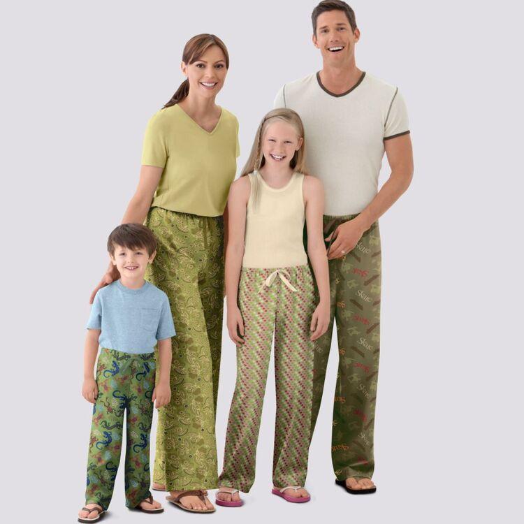 Simplicity Pattern 9129 Unisex Sleepwear