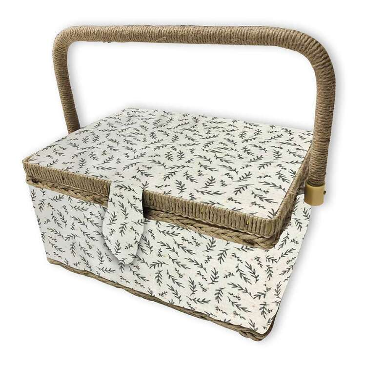 Birch Sprig Small Sewing Basket