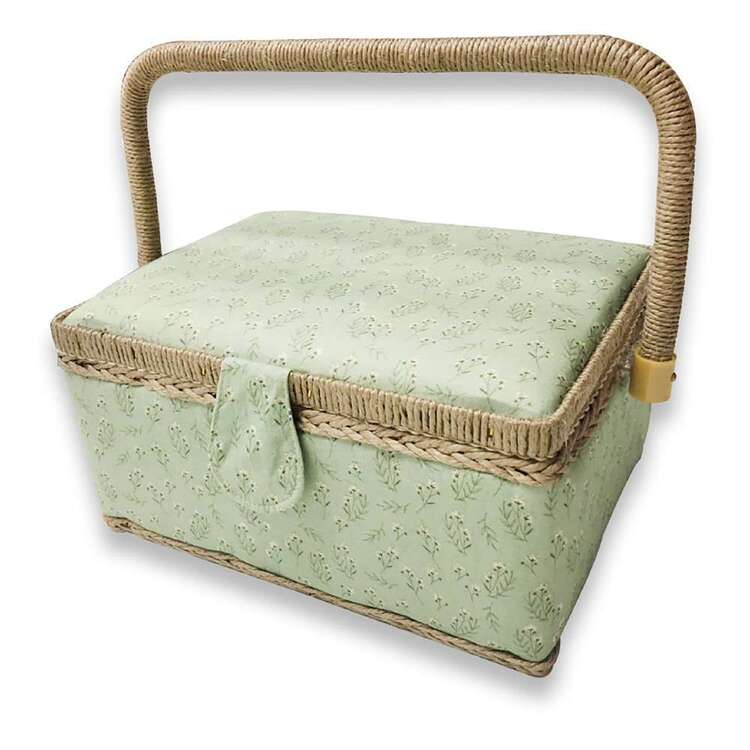 Birch Baby's Breath Small Sewing Basket